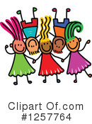 Stick Children Clipart #1257764
