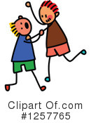 Stick Children Clipart #1257765