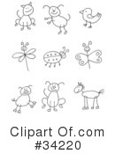 Royalty-Free (RF) Stick Figures Clipart Illustration #34220