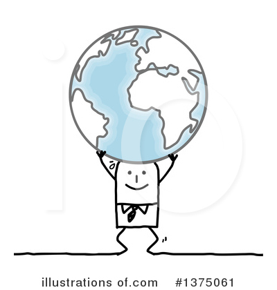 Royalty-Free (RF) Stick Man Clipart Illustration by NL shop - Stock Sample #1375061