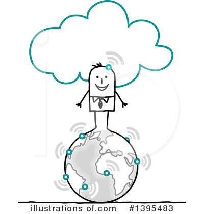 Royalty-Free (RF) Stick Man Clipart Illustration by NL shop - Stock Sample #1395483