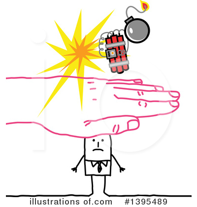 Royalty-Free (RF) Stick Man Clipart Illustration by NL shop - Stock Sample #1395489