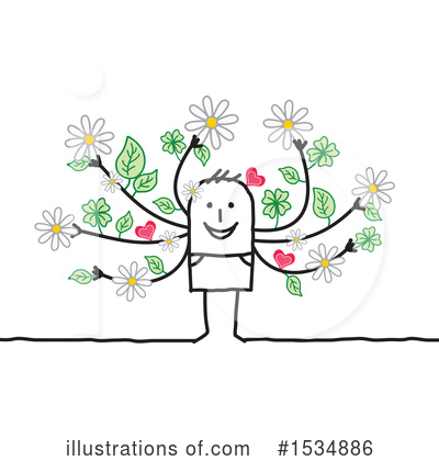 Royalty-Free (RF) Stick Man Clipart Illustration by NL shop - Stock Sample #1534886