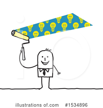 Royalty-Free (RF) Stick Man Clipart Illustration by NL shop - Stock Sample #1534896