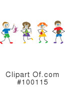 Stick People Clipart #100115 by Prawny