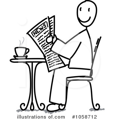 Newspaper Clipart #1058712 by Frog974