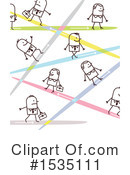 Stick People Clipart #1535111 by NL shop