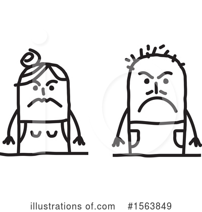 Royalty-Free (RF) Stick People Clipart Illustration by NL shop - Stock Sample #1563849