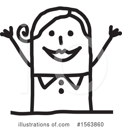 Royalty-Free (RF) Stick People Clipart Illustration by NL shop - Stock Sample #1563860