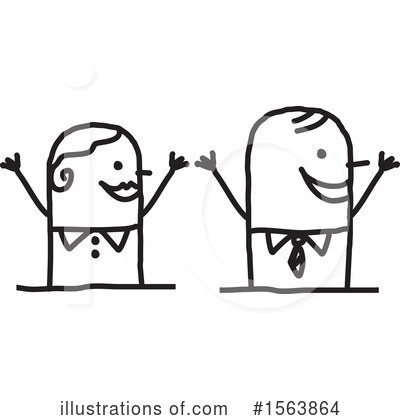 Royalty-Free (RF) Stick People Clipart Illustration by NL shop - Stock Sample #1563864