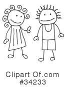Royalty-Free (RF) Stick People Clipart Illustration #34233