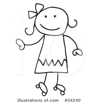 Girl Clipart #34240 by C Charley-Franzwa