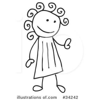 Girl Clipart #34242 by C Charley-Franzwa