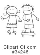 Royalty-Free (RF) Stick People Clipart Illustration #34248