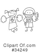 Royalty-Free (RF) Stick People Clipart Illustration #34249