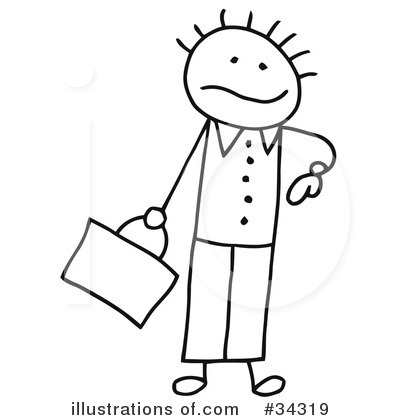 Royalty-Free (RF) Stick People Clipart Illustration by C Charley-Franzwa - Stock Sample #34319