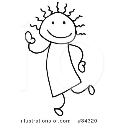 Stick People Clipart #34320 - Illustration by C Charley-Franzwa