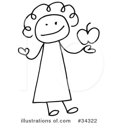 Girl Clipart #34322 by C Charley-Franzwa