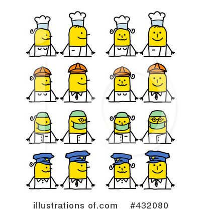 Royalty-Free (RF) Stick People Clipart Illustration by NL shop - Stock Sample #432080