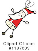 Stick Santa Clipart #1197639 by lineartestpilot