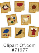 Royalty-Free (RF) Stickers Clipart Illustration #71977