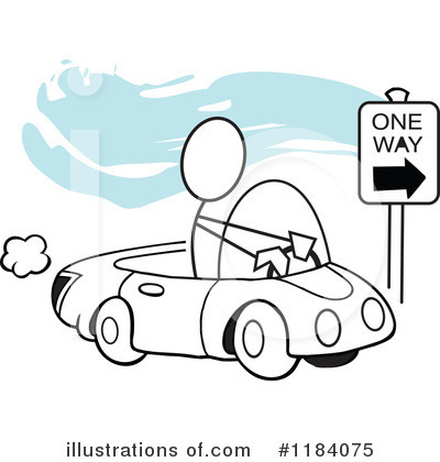Driving Clipart #1184075 by Johnny Sajem