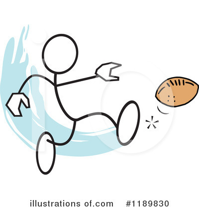 Football Clipart #1189830 by Johnny Sajem