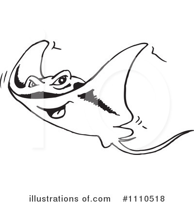 Ray Fish Clipart #1110518 by Dennis Holmes Designs
