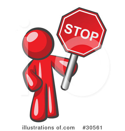 Stop Sign Clipart #30561 - Illustration by Leo Blanchette