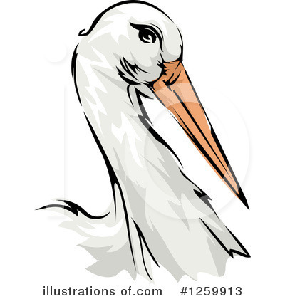 Stork Clipart #1259913 by BNP Design Studio