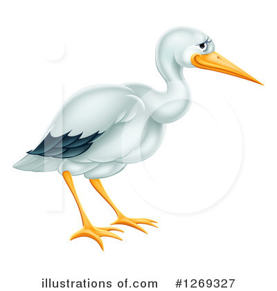 Stork Clipart #1269327 by AtStockIllustration