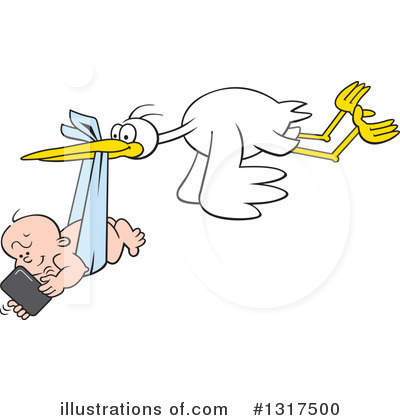 Royalty-Free (RF) Stork Clipart Illustration by Johnny Sajem - Stock Sample #1317500