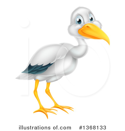 Stork Clipart #1368133 by AtStockIllustration