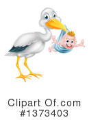 Stork Clipart #1373403 by AtStockIllustration