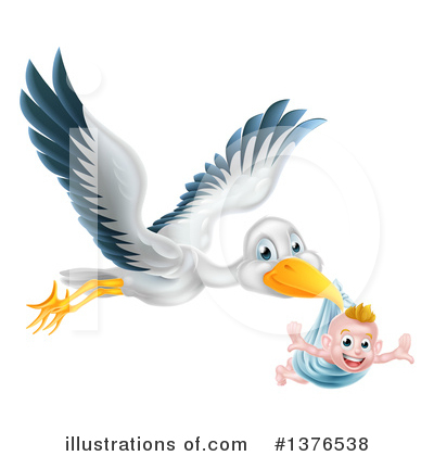 Royalty-Free (RF) Stork Clipart Illustration by AtStockIllustration - Stock Sample #1376538