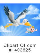 Stork Clipart #1403625 by AtStockIllustration