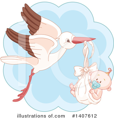 Stork Clipart #1407612 by Pushkin