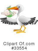 Royalty-Free (RF) stork Clipart Illustration #33554