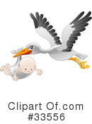 Stork Clipart #33556 by AtStockIllustration