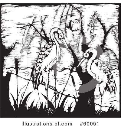 Royalty-Free (RF) Stork Clipart Illustration by xunantunich - Stock Sample #60051