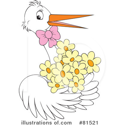 Stork Clipart #81521 - Illustration by Alex Bannykh