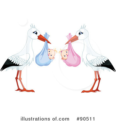 Royalty-Free (RF) Stork Clipart Illustration by Pushkin - Stock Sample #90511