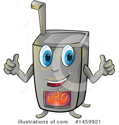 Royalty-Free (RF) Stove Clipart Illustration by Domenico Condello - Stock Sample #1459921