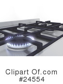 Royalty-Free (RF) Stove Clipart Illustration #24554
