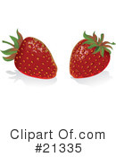 Strawberries Clipart #21335 by Paulo Resende