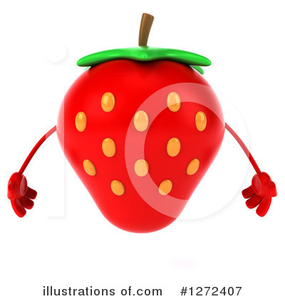 Royalty-Free (RF) Strawberry Character Clipart Illustration by Julos - Stock Sample #1272407
