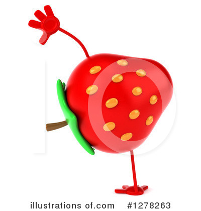 Strawberry Character Clipart #1278263 by Julos