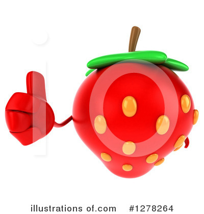 Strawberry Character Clipart #1278264 by Julos