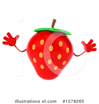 Strawberry Character Clipart #1278265 by Julos