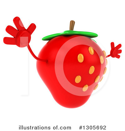 Strawberry Character Clipart #1305692 by Julos